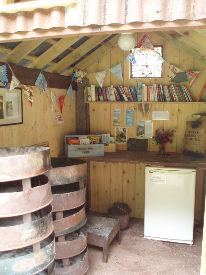 Freezer,  Fire Trays and Book Swap Hut