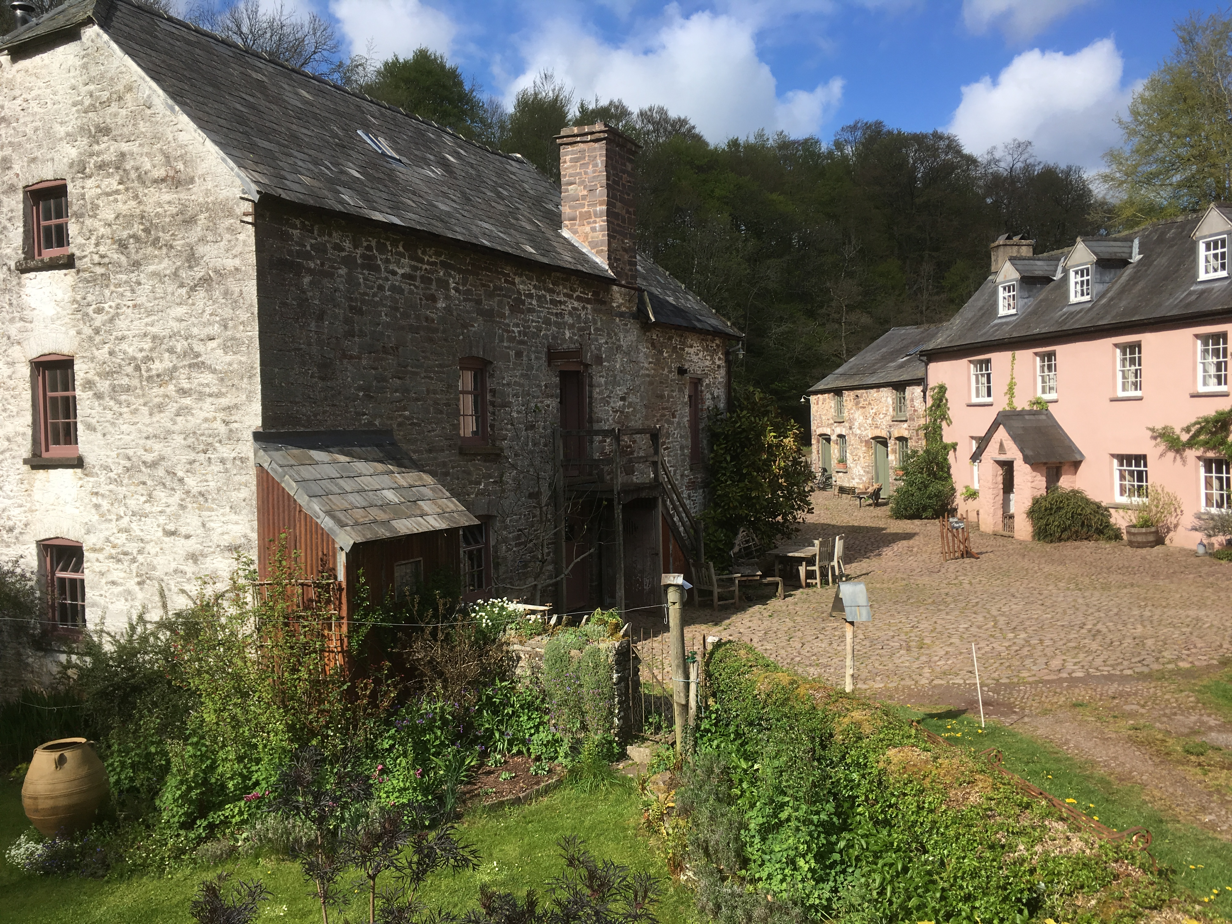 Priory Mill's cobbled yard