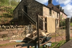 Cottage garden wall and steps